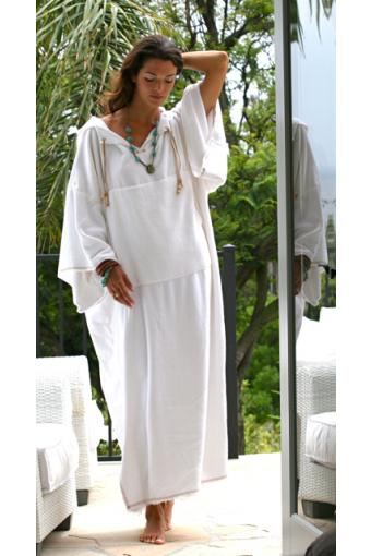 Bath robe bamboo (white)