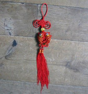 Chinese lucky knots carp
