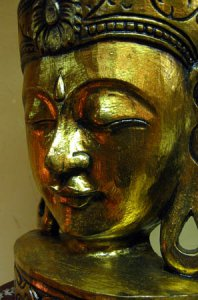Head of Buddha (gilden)
