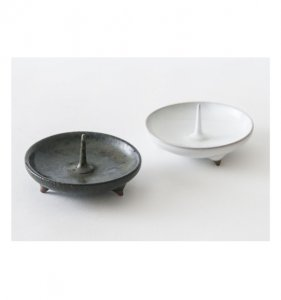 Japanese candle holder Mame (black & white)