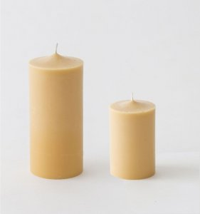 Japanese rice bran block candles