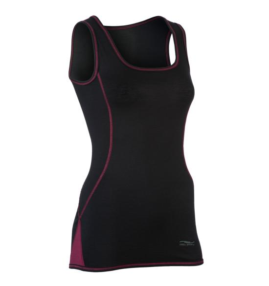 Tanktop Sport W Black (Wool & Silk)